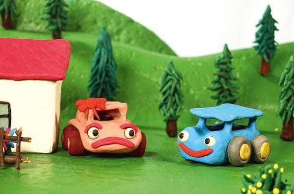 O modrém autíčku
