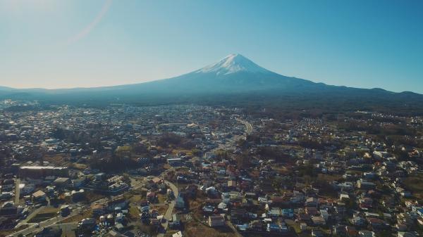 Japonsko z výšky