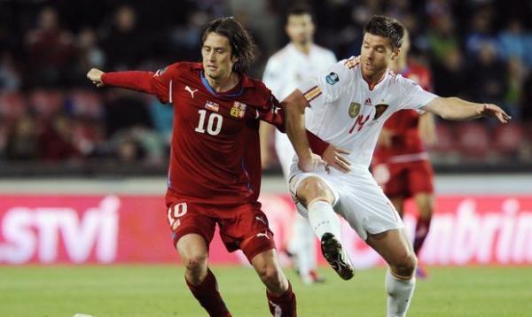Fotbal: Španělsko - Česko