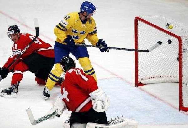 Hokej: Švýcarsko - Švédsko