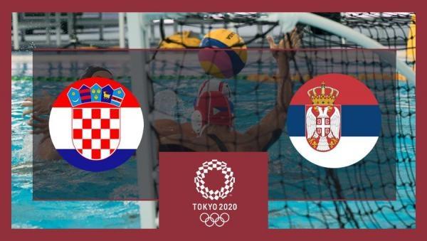 OI Tokio 2020: Vaterpolo - skupina 4. kolo: Hrvatska - Srbija