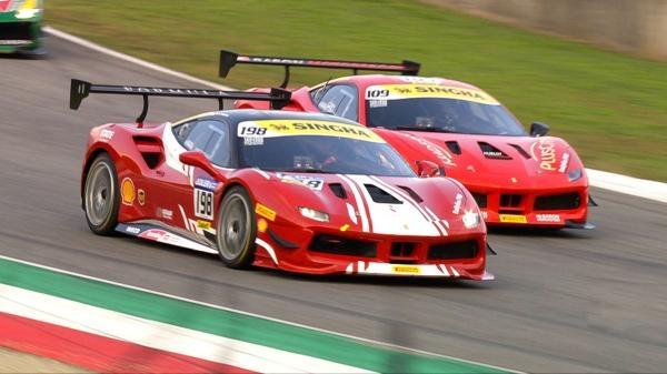 Ferrari Challenge Europe 2020 (7) - Živě