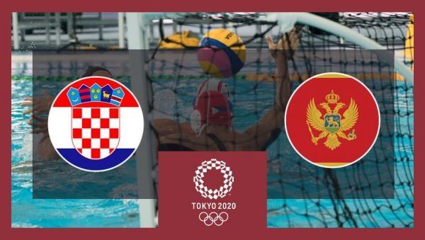 OI Tokio 2020: Vaterpolo - skupina 3.kolo: Hrvatska - Crna Gora