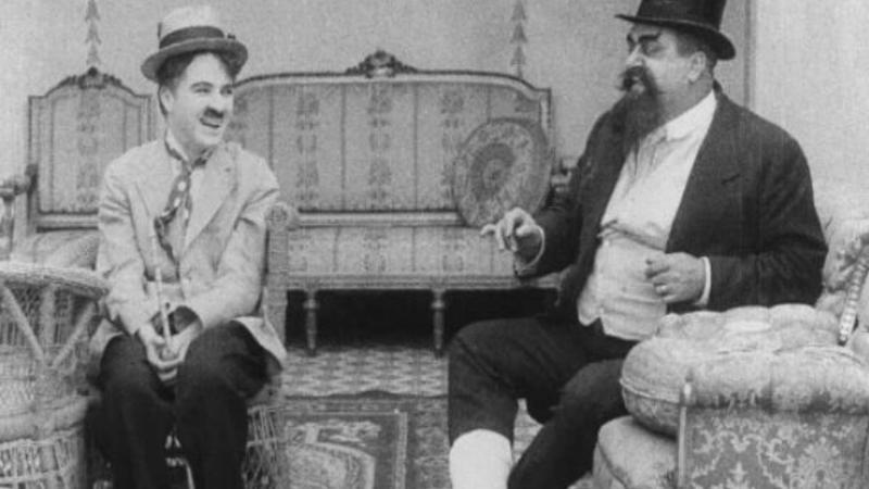 Chaplin v lázních