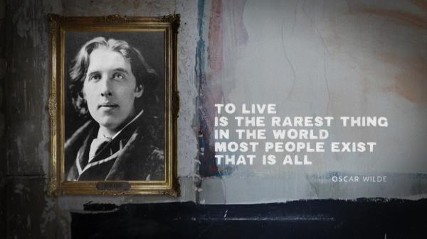 Dorian Gray, portrét Oskara Wildea